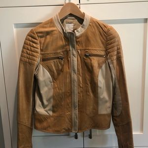 Leith leather jacket size small